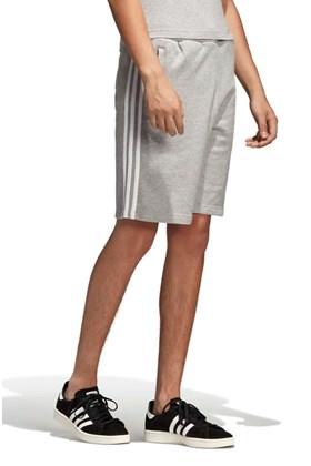 Bermuda Adidas 3 Stripes Cinza/Branca