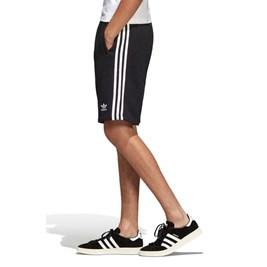 Bermuda Adidas 3 Stripes Preta/Branca