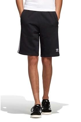 Bermuda Adidas 3 Stripes Preto/Branco