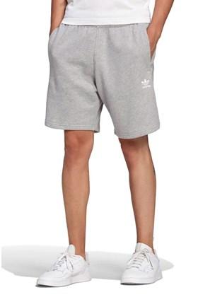 Bermuda Adidas Moletom Trefoil Essentials Cinza/Branco