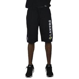 Bermuda de Moletom NBA Los Angeles Lakers Preto