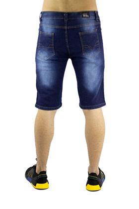 Bermuda NewSkull Jeans Escura Azul