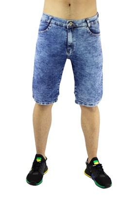 Bermuda NewSkull Jeans Marmorizada  Azul