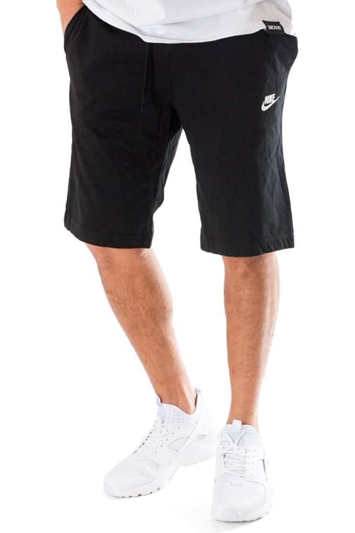 Bermuda Nike Jersey Moletom Preto