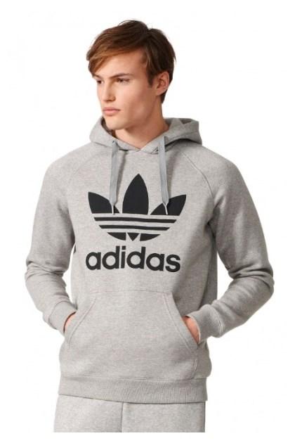 3327e6c9d4c Blusa de Moletom Adidas Trefoil Cinza - NewSkull