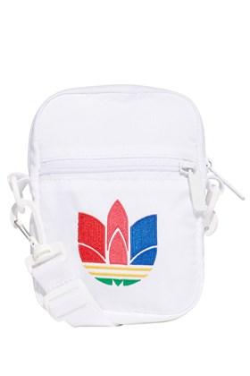 Bolsa Adidas Shoulder Bag Fest Logo 3D Branca