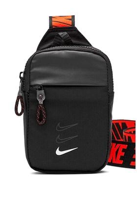 Bolsa Nike Shoulderbag Essentials Unissex Preta/Laranja