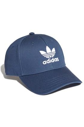 Bone Adidas Aba Curva Baseball Trefoil Strapback Azul/Branco