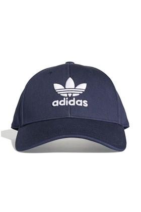 Boné Adidas Aba Curva Baseball Trefoil Strapback Marinho/Branco