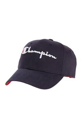 Bone Champion Aba Curva Bordado Strapback Azul/Branco