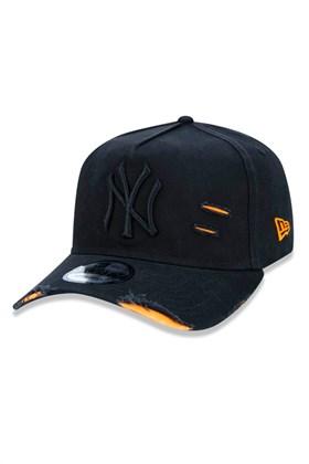BONÉ NEW ERA 940 NEW YORK YANKEES MLB STRAPBACK PRETO