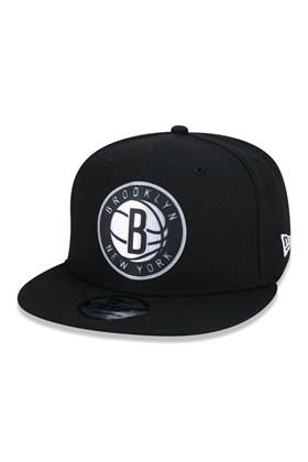 Boné New Era 9Fifty Nba Brooklyn Nets Back Half  Preto