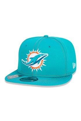 Boné New Era 9Fifty Nfl Onfield Coleção Sideline Miami Dolphins  Verde