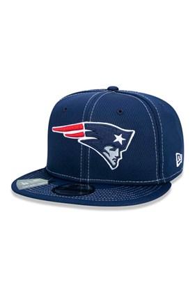 Boné New Era 9Fifty Nfl Onfield Coleção Sideline New England Patriots  Marinho