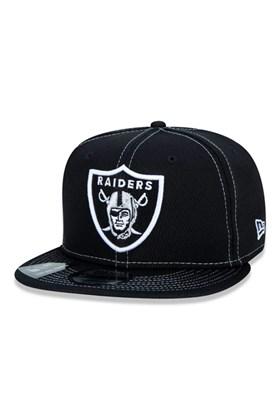 Boné New Era 9Fifty Nfl Onfield Coleção Sideline Oakland Raiders  Preto