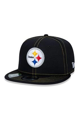 Boné New Era 9Fifty Nfl Onfield Coleção Sideline Pittsburgh Steelers  Preto