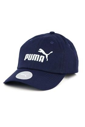 Bone PUMA Aba Curva Essential No.1 Strapback Azul Marinho