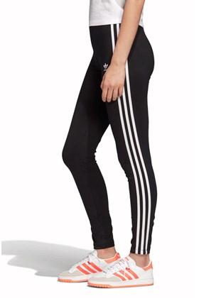 Calça Adidas Legging Adicolor 3 Stripes Feminina Preta