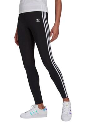 Calça Adidas Legging Adicolor Classics 3-Stripes Feminina Preta/Branco