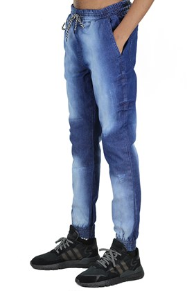 Calça NewSkull Jogger Jeans Escuro Azul