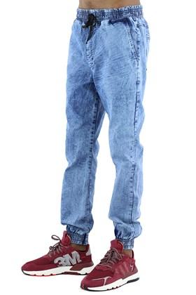 Calça NewSkull Jogger Jeans Marmorizada  Azul