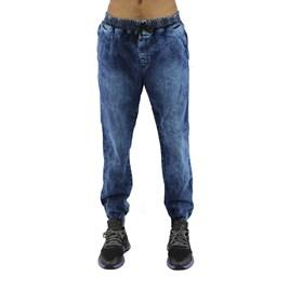 Calça NewSkull Jogger Jeans Marmorizada  Azul Escura