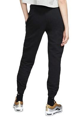 Calça Nike Moletom Sportswear Essential Feminina Preta/Branca