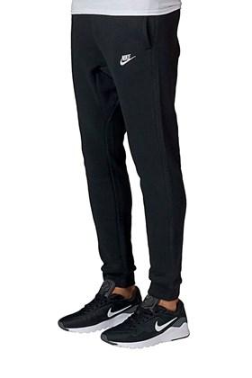 Calça Nike Sportswear Club Jogger Moletom Preta/Branca
