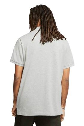Camisa Polo Nike Sportswear Cinza/Branca