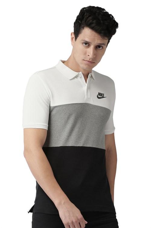 Prisión Centrar Receptor  Camisa Polo Nike Sportswear Tri Color Branca - NewSkull