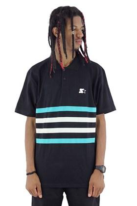Camisa Polo Starter Listras Preta