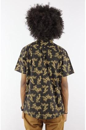 Camisa STARTER Bamboo Manga Curta Preto/Amarelo