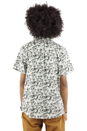 Camisa STARTER Floral Manga Curta Branca/Cinza