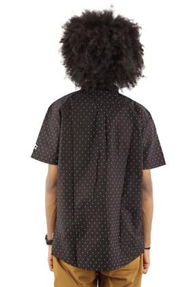 Camisa STARTER Pattern Manga Curta Preta