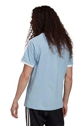 Camiseta Adidas Adicolor Classics 3-Stripes Azul/Branca