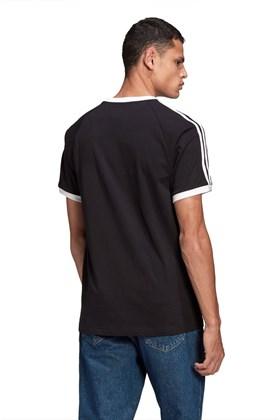 Camiseta Adidas Adicolor Classics 3 Stripes Preta/Branca