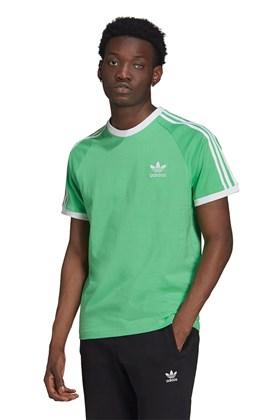 Camiseta Adidas Adicolor Classics 3-Stripes Verde/Branca