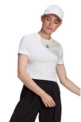 Camiseta Adidas Adicolor Classics Sleeve Cropped Branca/Preta