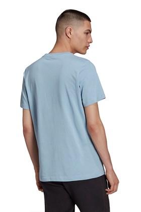 Camiseta Adidas Adicolor Classics Trefoil Azul Claro/Branca