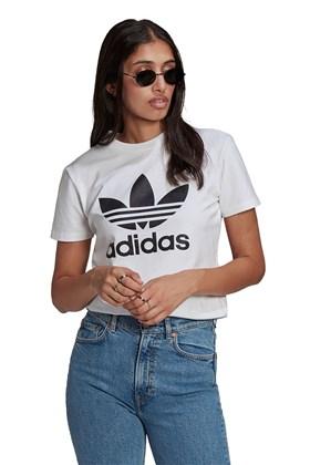 Camiseta Adidas Adicolor Classics Trefoil Feminina Branca/Preta