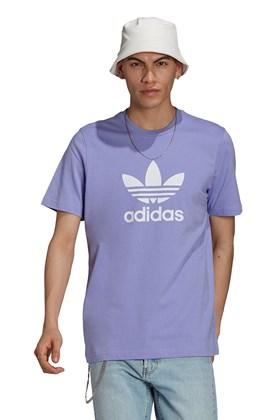 Camiseta Adidas Adicolor Classics Trefoil Lilas/Branca
