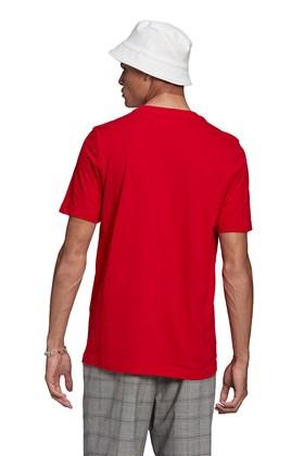 Camiseta Adidas Adicolor Classics Trefoil Vermelha