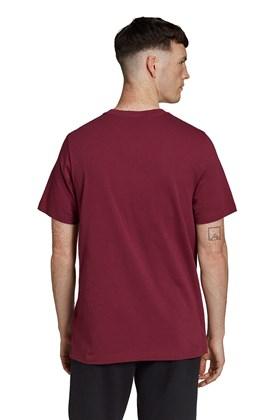 Camiseta Adidas Adicolor Essentials Trefoil Bordo/Cinza