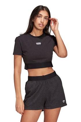 Camiseta Adidas Cropped R.Y.V Feminina Preta