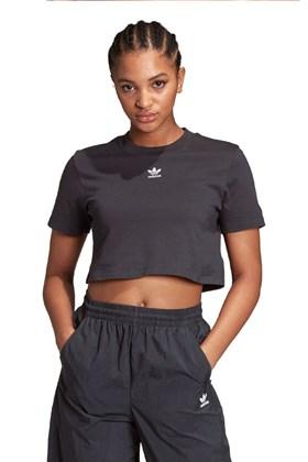 Camiseta ADIDAS Cropped Trefoil Essential Preta/Branca