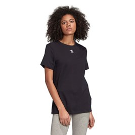 Camiseta ADIDAS Mini Trefoil Feminina Preto/Branco