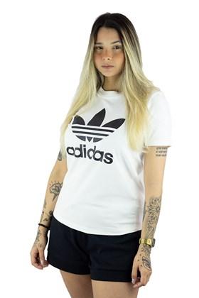 Camiseta ADIDAS Originals Trefoil Feminino Branca/Preta