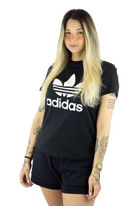 Camiseta ADIDAS Originals Trefoil Feminino Preta/Branca