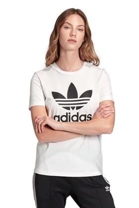 Camiseta ADIDAS Trefoil Feminina Branca/Preta