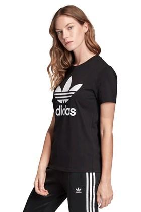 Camiseta ADIDAS Trefoil Feminina Preto/Branco